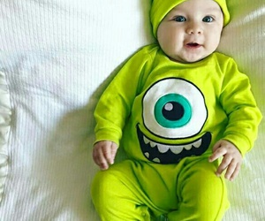 baby and green image