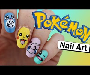 diy, nail art, and pikachu image