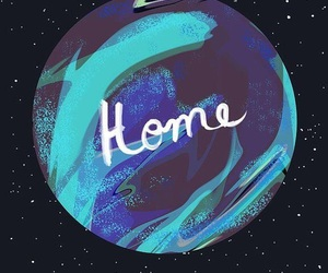 home, galaxy, and earth image