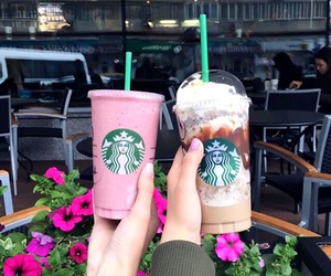 drinks and starbucks image