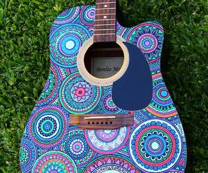 blue, cool, and guitar image