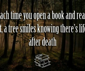 books, quote, and tree image