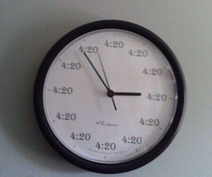 420, clock, and grunge image