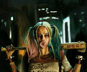 harley quinn, suicide squad, and joker image