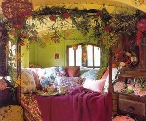 bedroom, Caravan, and decor image