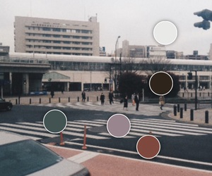 city, color, and japan image