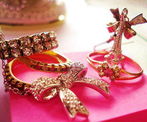 pink, bow, and paris image