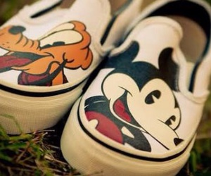 shoes, pluto, and mickey image