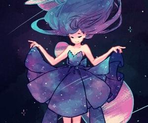 girl, galaxy, and anime image
