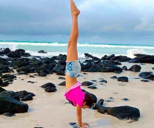 beach, goals, and gymnastics image