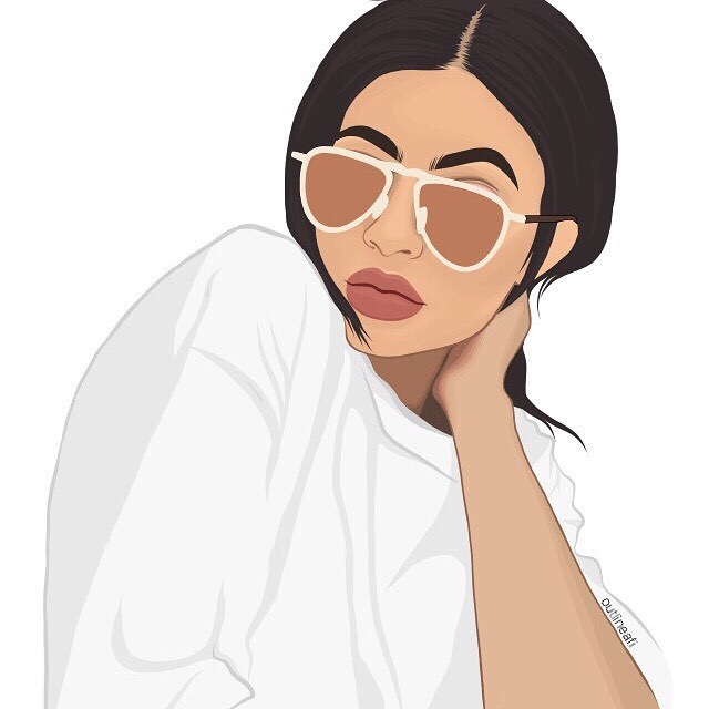 art, outline, and kylie jenner image