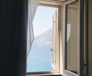 window, sea, and home image