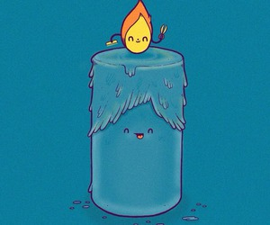 blue, candle, and wallpaper image