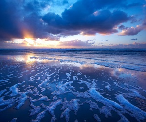 beach, ocean, and blue image