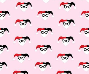 background, harlequin, and harley quinn image
