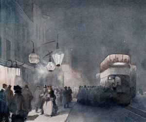 city, fog, and london image