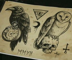 owl, art, and tattoo image