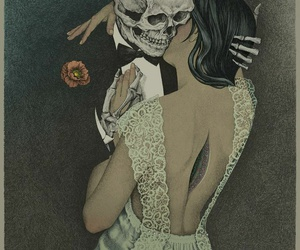 love, skull, and death image