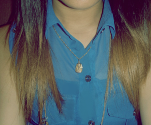 blouse, blue, and button up image