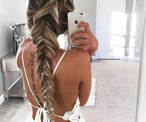 braids, hairstyle, and iphone image