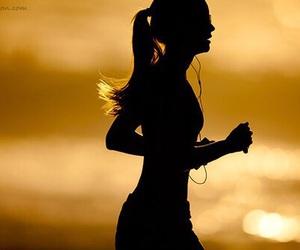 girl, run, and running image