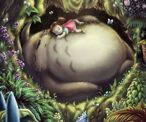 anime, cute, and totoro image