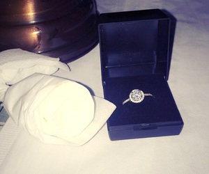 diamond ring, proposal, and love image