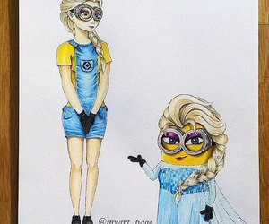 disney, frozen, and minions image