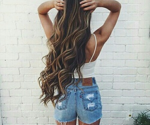 fashion, long hair, and hairstyle image