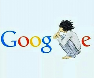 L, death note, and google image