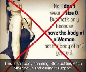 feminism, feminist, and body shaming image