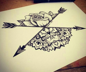 draw picture flower arrow image