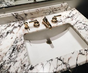black, golden, and marble image