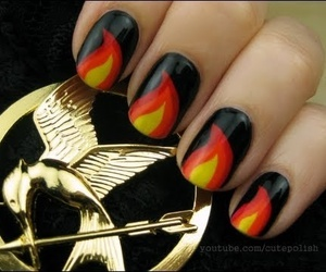 nails, hunger games, and nail art image
