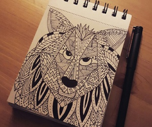 design, wolf, and graphic image