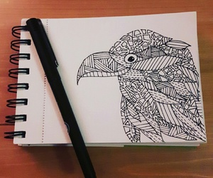 bird, design, and drawing image