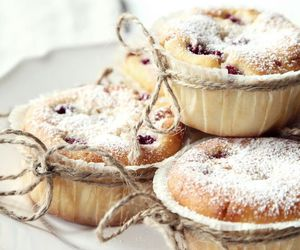 cheesecake, delicious, and muffin image