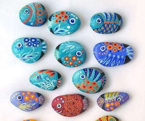 fish, stone, and diy image
