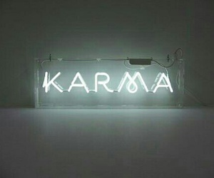 neon, ♡, and karma image