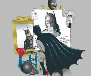 batman, drawing, and painting image