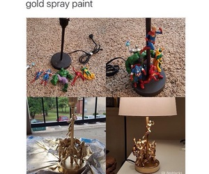 action figures, diy, and lamp image