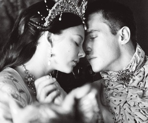 anne boleyn, black and white, and couple image