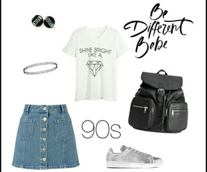 90s, backpack, and black image