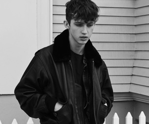 troye sivan, black and white, and troye image