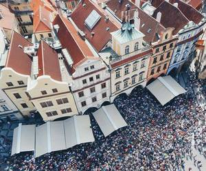 old town, prague, and people image