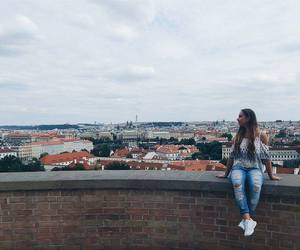girl, prague, and view image