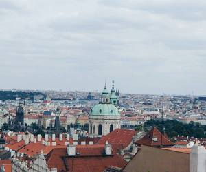 Houses, prague, and roofs image