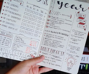 college, creative, and planner image