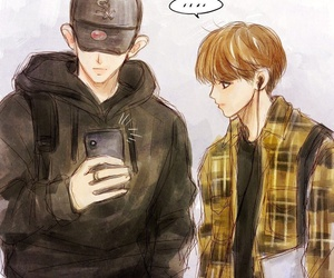 boys, Chen, and Hot image