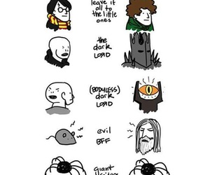 dumbledore, hp, and LOTR image